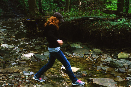 Laura Crosses the Creek