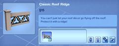 Classic Roof Ridge