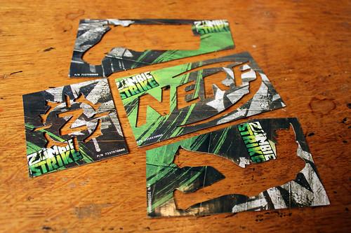 Zombie Strike cardboard stencils