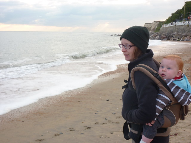 Sam's first sight of the beach and sea