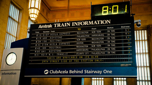 Amtrak - Train Schedule - Philadelphia 30th Street Station, October, 2013