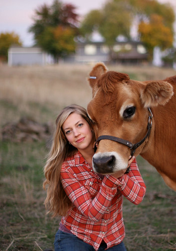 Every day should be this lovely, every cow so cute, and every girl so beautiful and sweet. by iamaprice(Amanda)