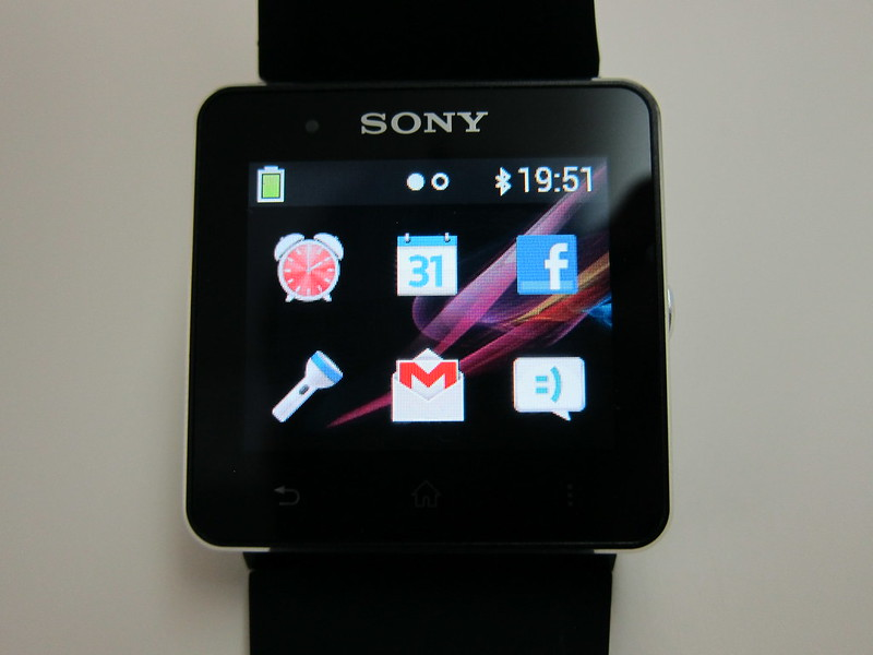 Sony SmartWatch 2 - After Installing Apps