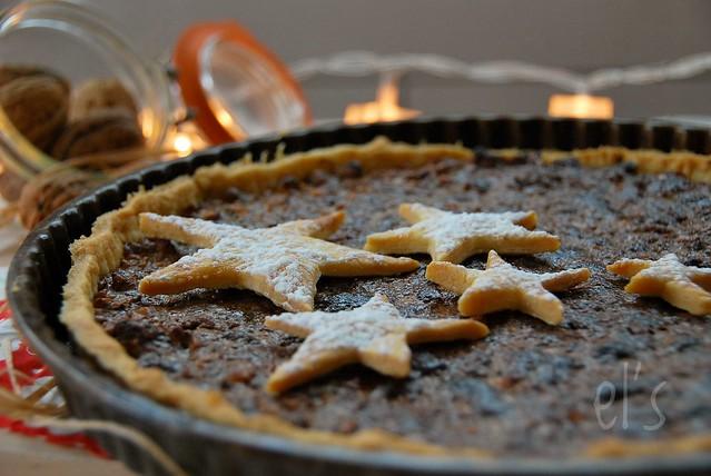 Tarte aux noix et chocolat Dulcey