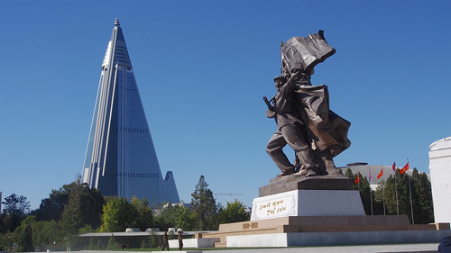 travel vacation holiday bus monument museum landscape scenery asia cityscape korea northkorea koreanwar pyongyang dprk ryugyonghotel youngpioneertours