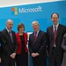 Alex White TD Eamon Gimore TD and Cllr Lettie McCarthy at Microsoft in Sandyford