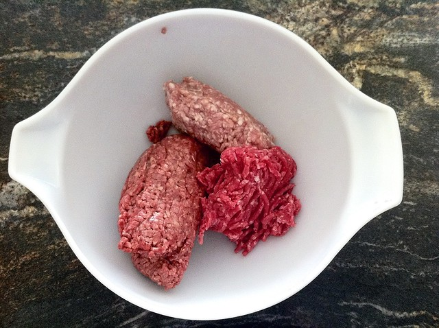 Lean Ground Beef, Ground Veal and Ground Pork