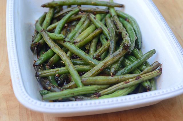 Sweet and Spicy Asian Style Green Beans