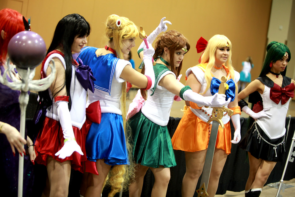Sailor Moon cosplayers