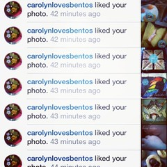 Loving the love… thank you @carolynlovesbentos !!