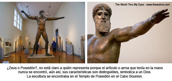 Estatua de Poseidón en el museo arqueológico de Atenas. Cabo Sounion - 12272923504 44a7e74190 o - Cabo Sounion y el Templo de Poseidón