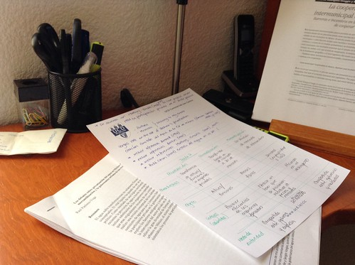 Handwritten notes in academic research