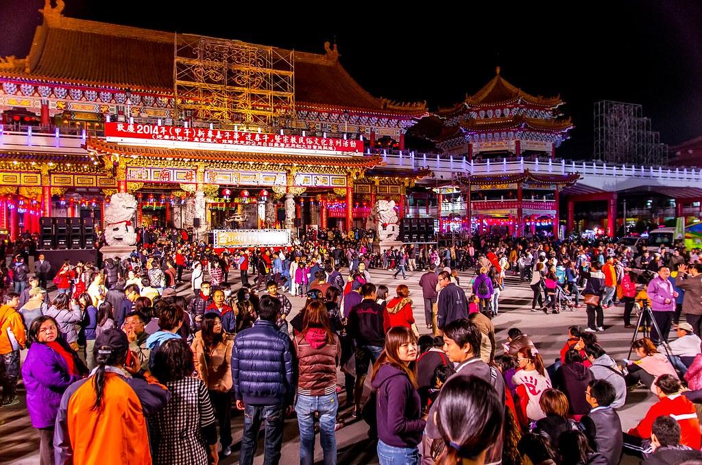 《2014台南土城正統鹿耳門聖母廟元宵節.高空煙火》