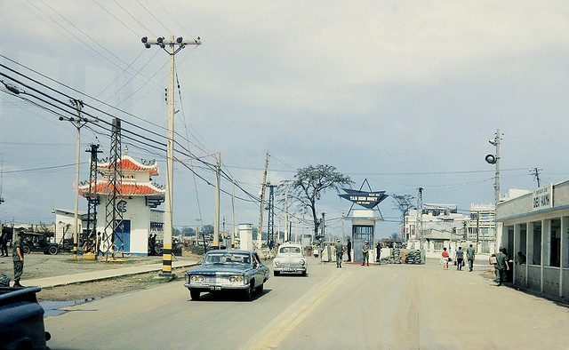 SAIGON 1968 -  Entrance to Tan Son Nhut Air Base