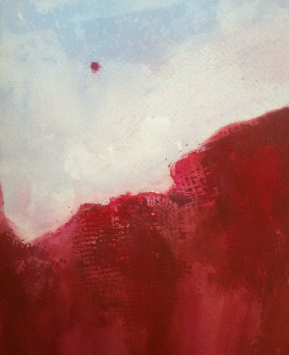 Detail from Red Canyon (Acrylic Water Media) by randubnick