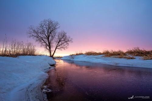 sky snow color minnesota sunrise landscape colorful view mn skyporn