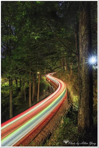 canon landscapes taiwan nightscene nightview 台灣 夜景 阿里山 嘉義 櫻花 佳能 火車 森林火車 祝山線 allenyang 黑輪羊 聯絡:allenabcmsahinetnet