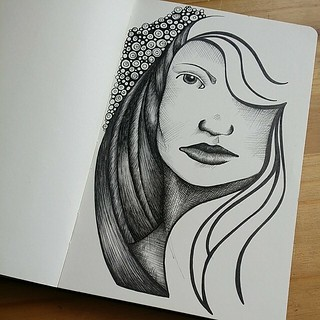 Sketchyness in my Moleskine.  #moleskine #inkdrawing #inkillustration #illustration #sketchbook #linedrawing #crosshatching #sketch