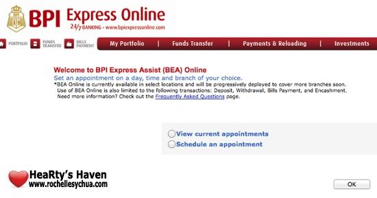BPI Set an appointment online