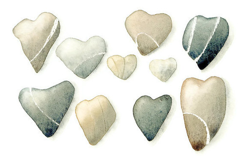 Watercolor-Print-Heart-Stones