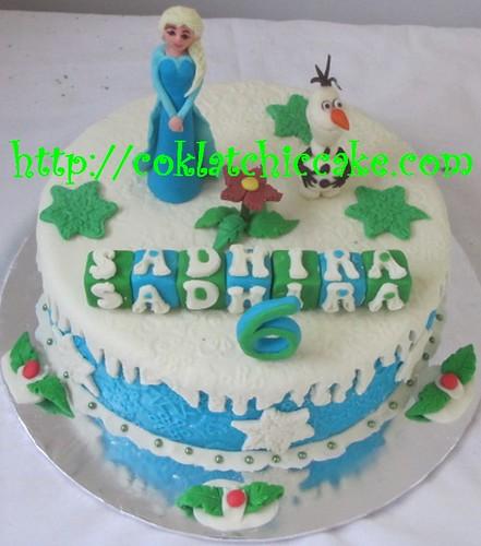 Kue ulang tahun dengan tema cake disney the frozen model ini mulai
