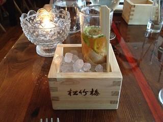 Dinner at Bent - Oyster Saki Shot