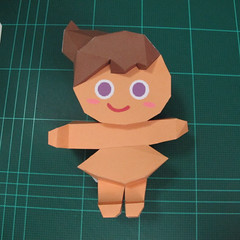 วิธีทำโมเดลกระดาษตุ้กตา คุกกี้สาวผู้ร่าเริง จากเกมส์คุกกี้รัน (LINE Cookie Run – Bright Cookie Papercraft Model) 021