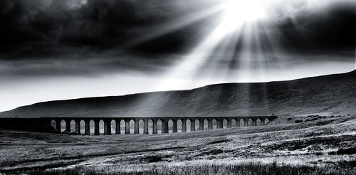 Ribblehead Viaduct, Yorkshire, England.