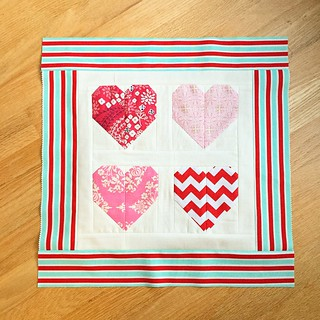 Candy Hearts pillow top