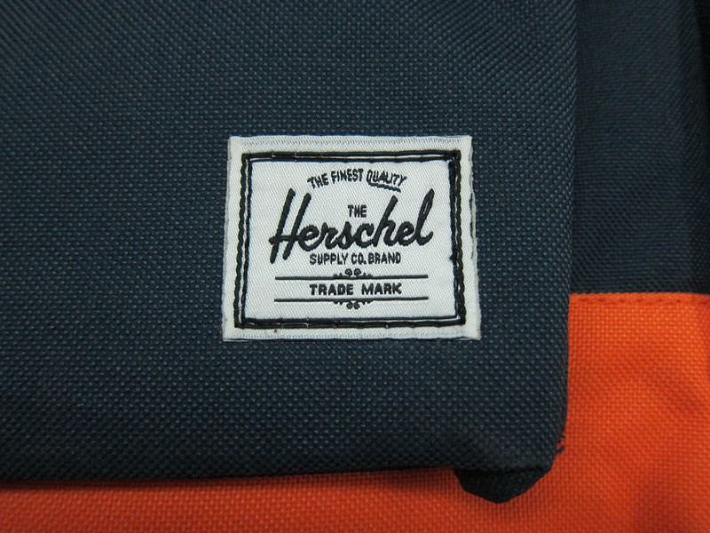 Herschel Supply Settlement Backpack (Navy/Mandarin) - Logo