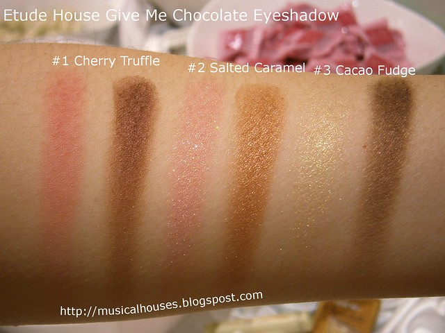 Etude House Give Me Chocolate Eyeshadow Swatches