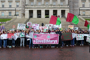 St Mary's protest, Stormont
