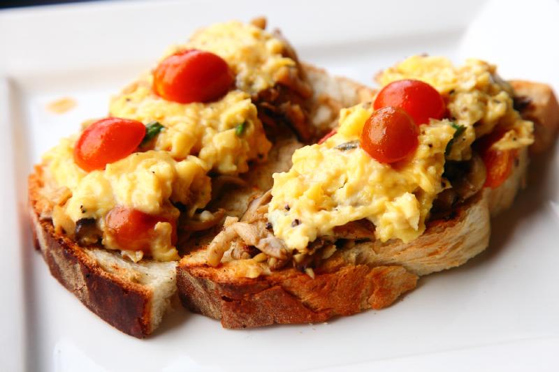 Bedrock cafe Mushroom-Egg-Toast