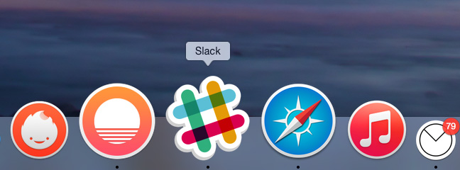 OSX Yosemite dock icons - Slack