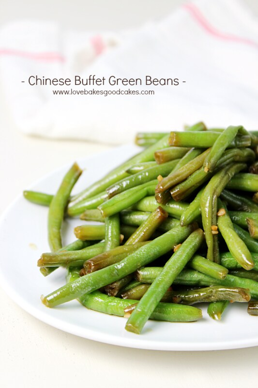Now you can recreate your favorite Chinese Buffet Green Beans at home! These beans are sweet, garlicky and utterly delicious! Easy to make!