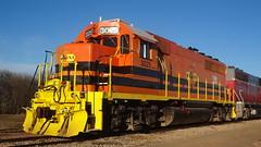 Missouri and North Arkansas GP40-2 on G&W family Texas and Northeastern Railroad rails in Sherman, TX