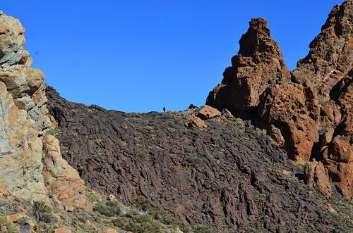 Lava cascade, Roques de Garcia, Teide National Park, Tenerife