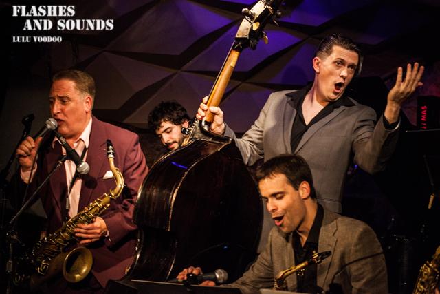 Ray Gelato & Barcelona Big Blues Band feat Sax Gordon, Dani Nel·lo & Dani Pérez03