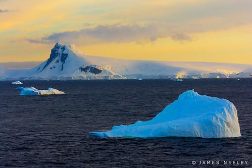sunrise landscape antarctica iceberg jamesneeley