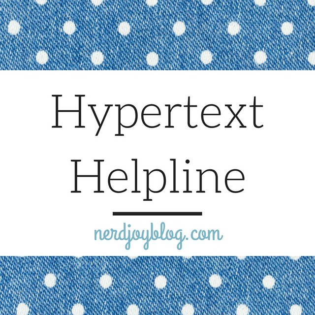 Hypertext Helpline Cover