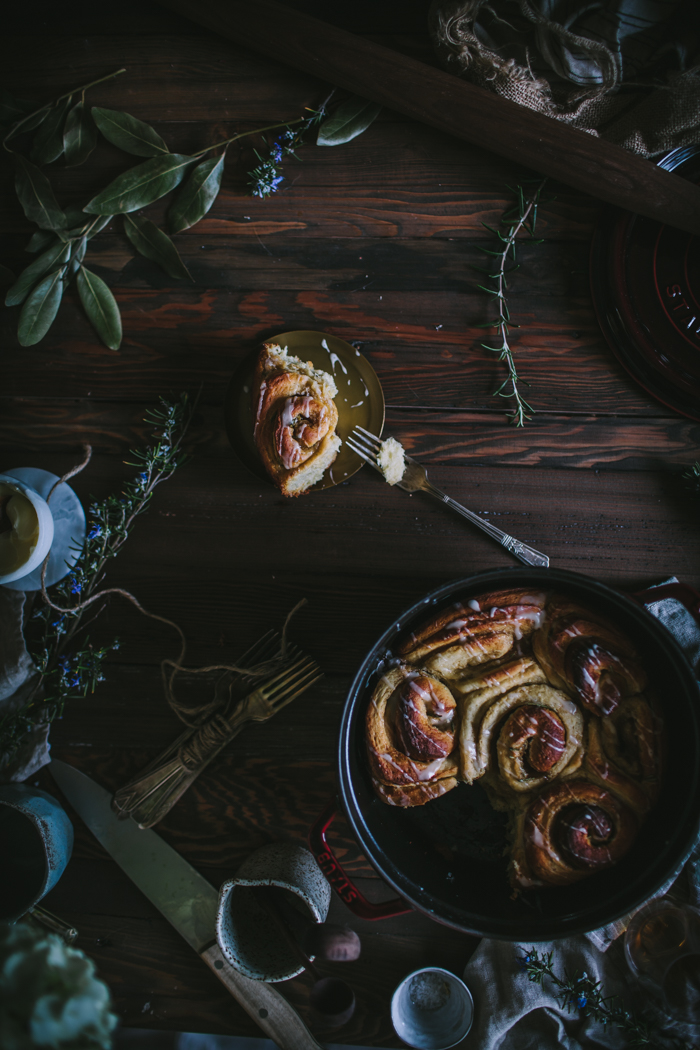 Rosemary Jasmine Buns With A Whiskey Glaze by Eva Kosmas Flores   Adventures in Cooking