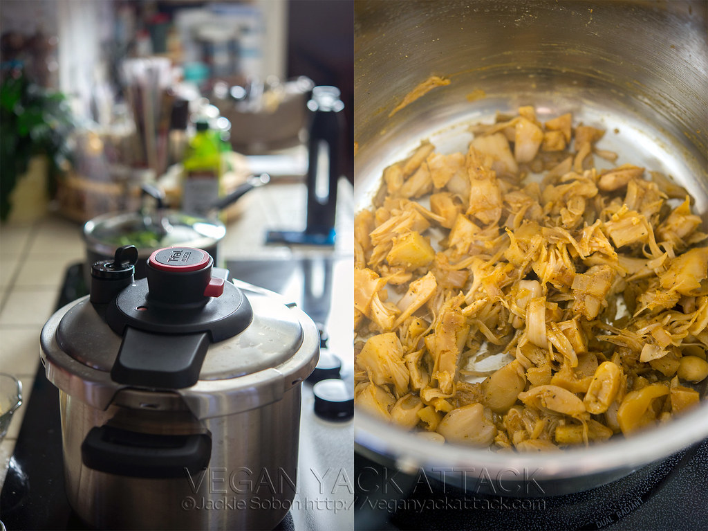 Pressure Cooker Pulled Jackfruit