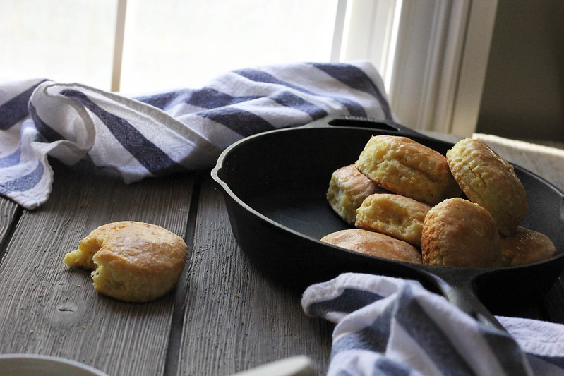 Cornmeal Cream Biscuits| Southern Soufflé