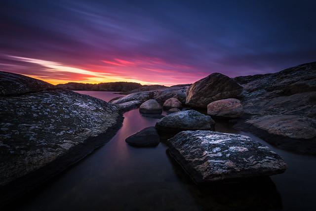 Blue Evening Sunset