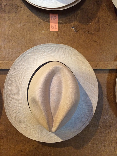 Quito: un chapeau panama, le célèbre chapeau d'Equateur et non pas du Panama
