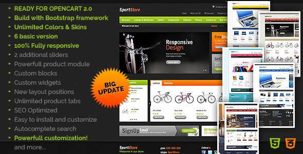 SportStore v2.6 - Modern Multi-Purpose OpenCart Theme