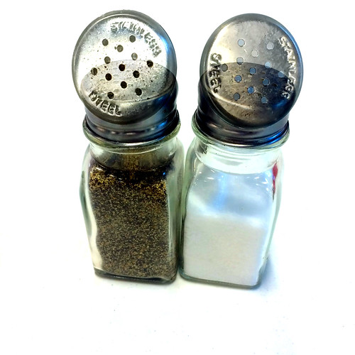 Stainless steel salt & pepper
