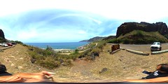 Kaena Point State Park from Makua Cave - a 360 degree equirectangular VR