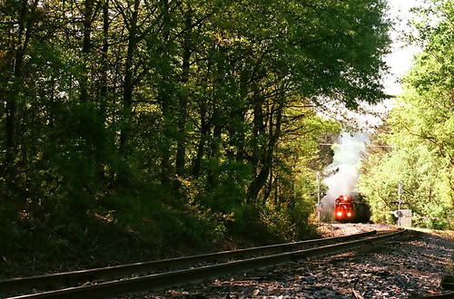 railroad train woodstock colorfilm