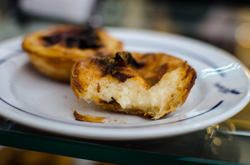 Egg tarts to die for at Pastéis de Belém in Portugal.